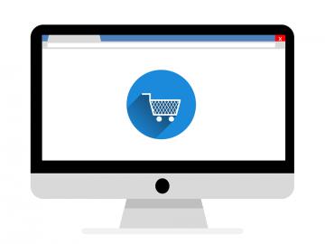 bild på dator med ehandel